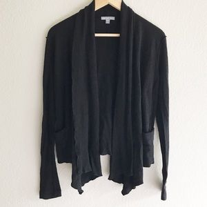 James Perse Black Open Cardigan
